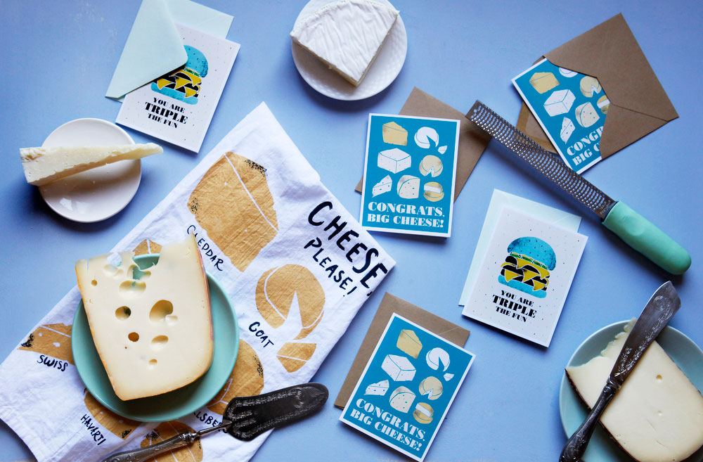 Thank you cards with cheese | freckleandfair.com