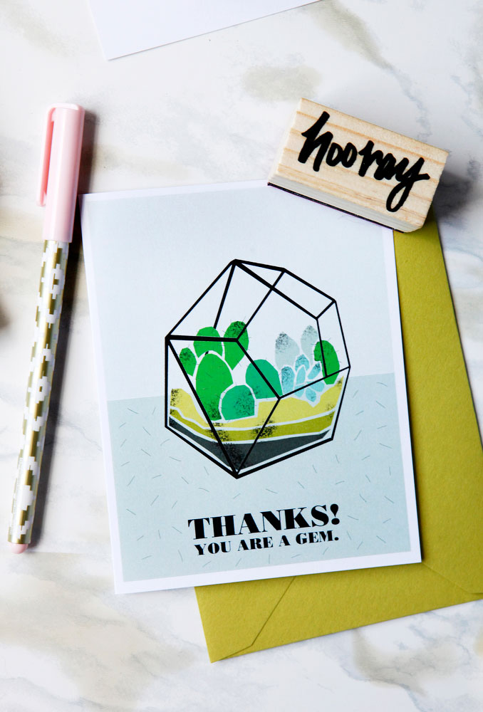 Succulent and cactus greeting cards | freckleandfair.com