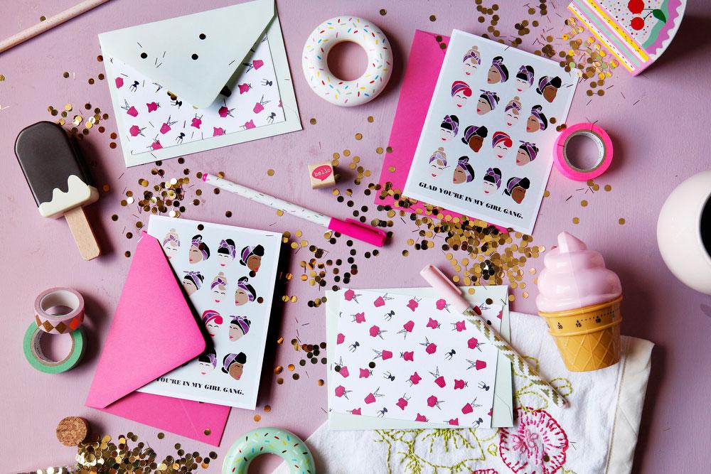 Girlie greeting cards for women | freckleandfair.com