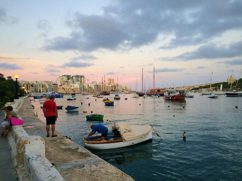 St. Julian's Bay in Malta | freckleandfair.com
