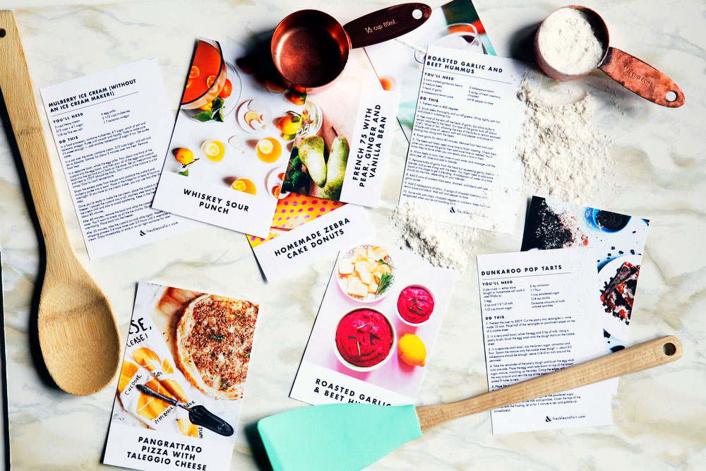 Free printable recipe cards | freckleandfair.com