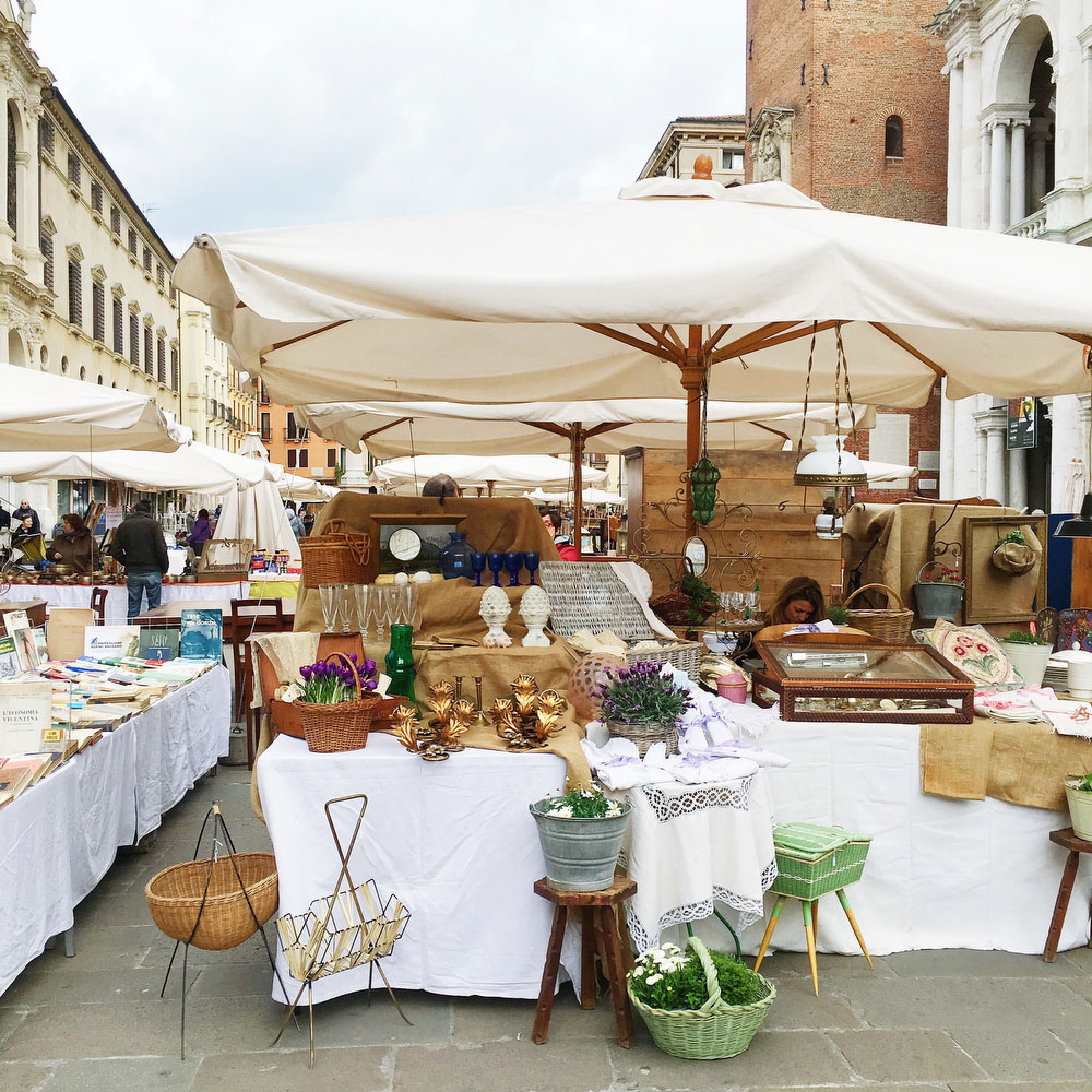 Antique market in downtown Vicenza