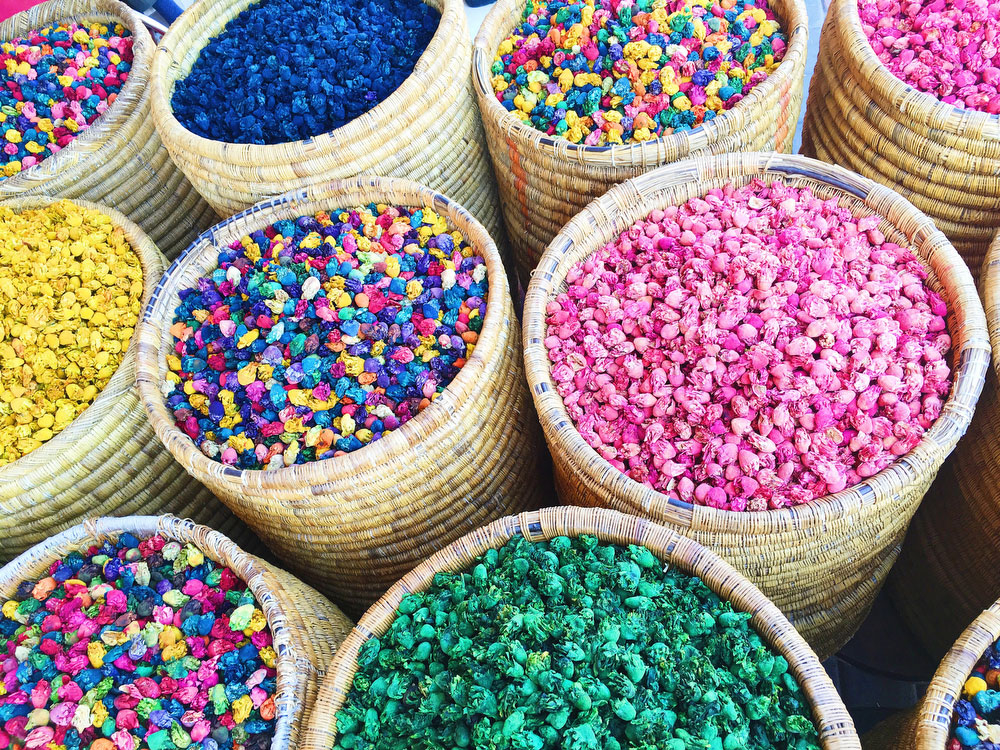 Rainbow road trip round-up: Our favorite colorful cities — Marrakech, Morocco | freckleandfair.com