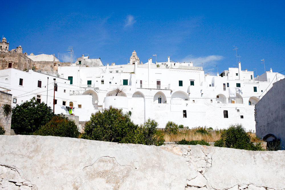 The white-washed homes of Ostuni