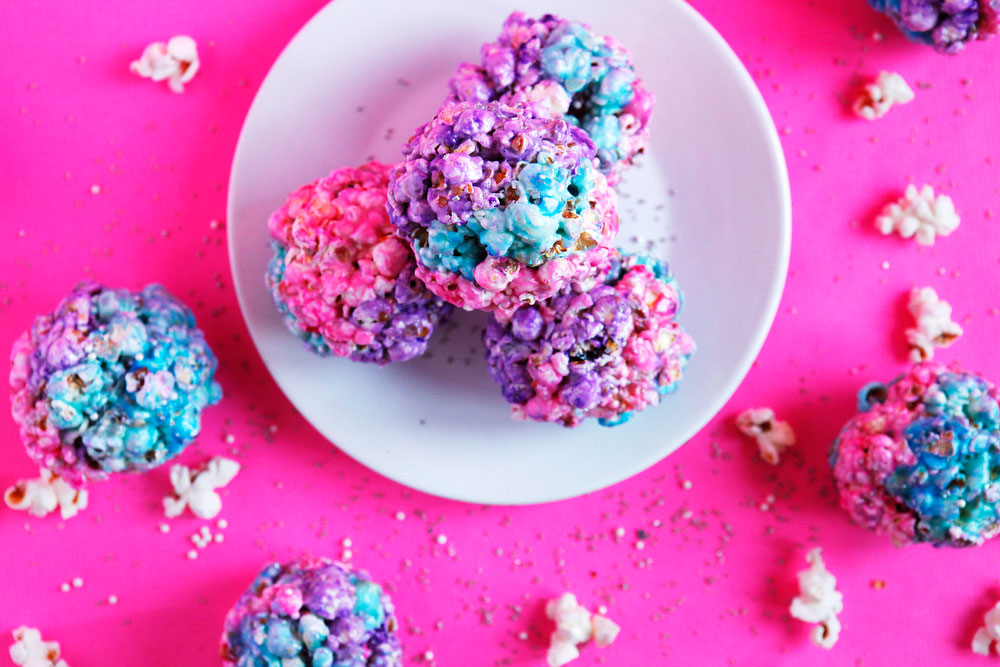 Galaxy popcorn balls | Freckle & Fair