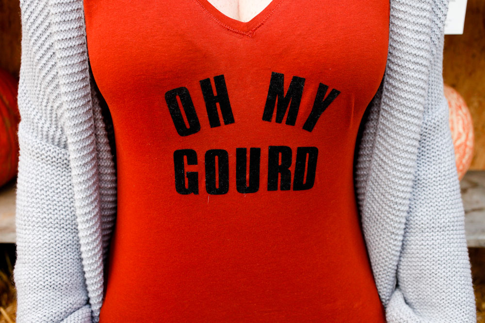 DIY Oh My Gourd shirts for fall, Halloween or Thanksgiving | freckleandfair.com