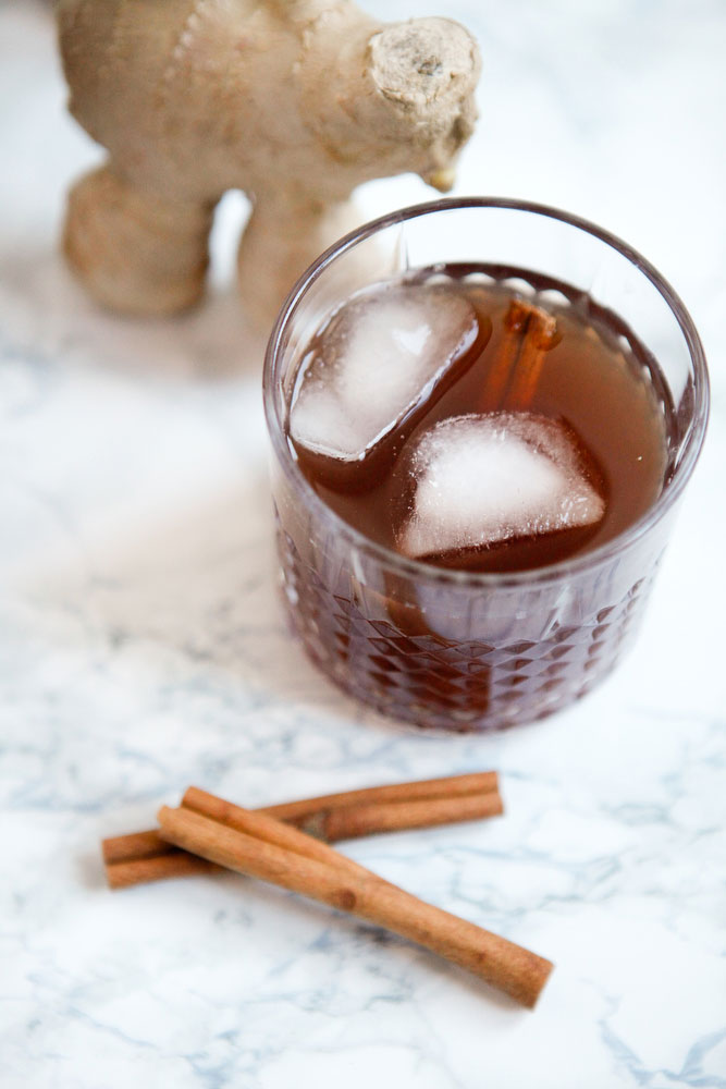 Ginger cinnamon punch | freckleandfair.com