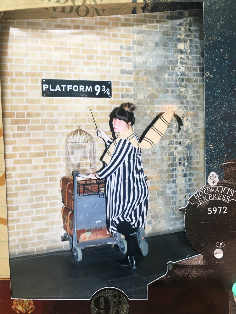 Platform 9 3/4 in King's Cross