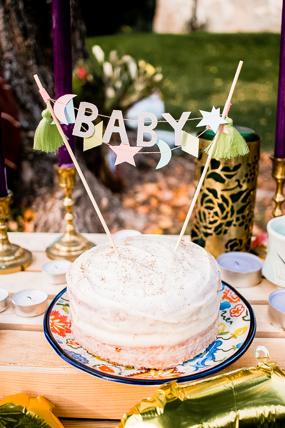 Boho baby shower | freckleandfair.com