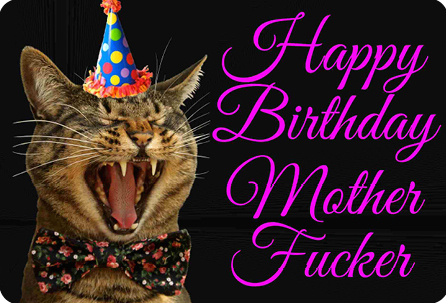 Happy Birthday Motherfucker Postcard