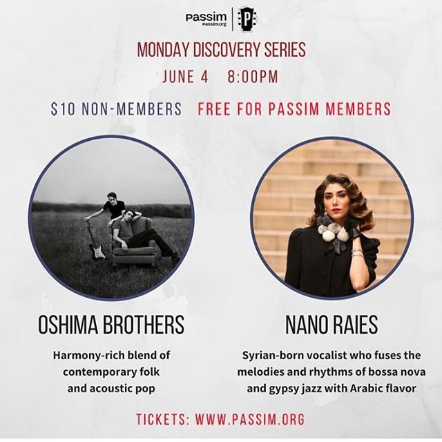 Repost from @clubpassim ! @oshimabrothers & @nanoraies. FREE4MEMBERS. Monday can also be a funday