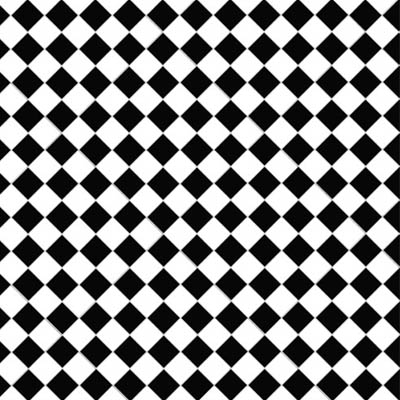 Chequer/Checkerboard: A repeating pattern of squares of alternating colors, textures, or materials.