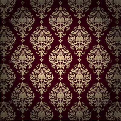 Damask: A jacquard woven ornamental pattern usually in one color.