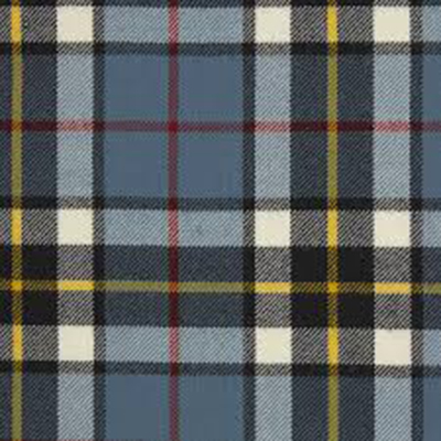 Tartan: Woven plaids that consist of stripes of different widths and colors.