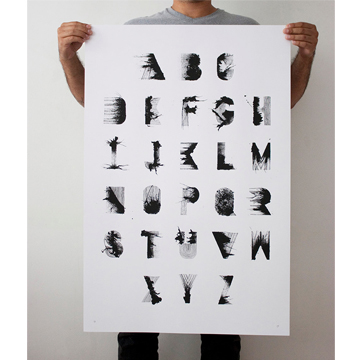 Hand Printed Silkscreen Typographic Print from LouMedel; $35