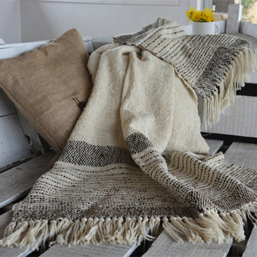 Black sheep handwoven blanket  from  TexturableDecor ; $130