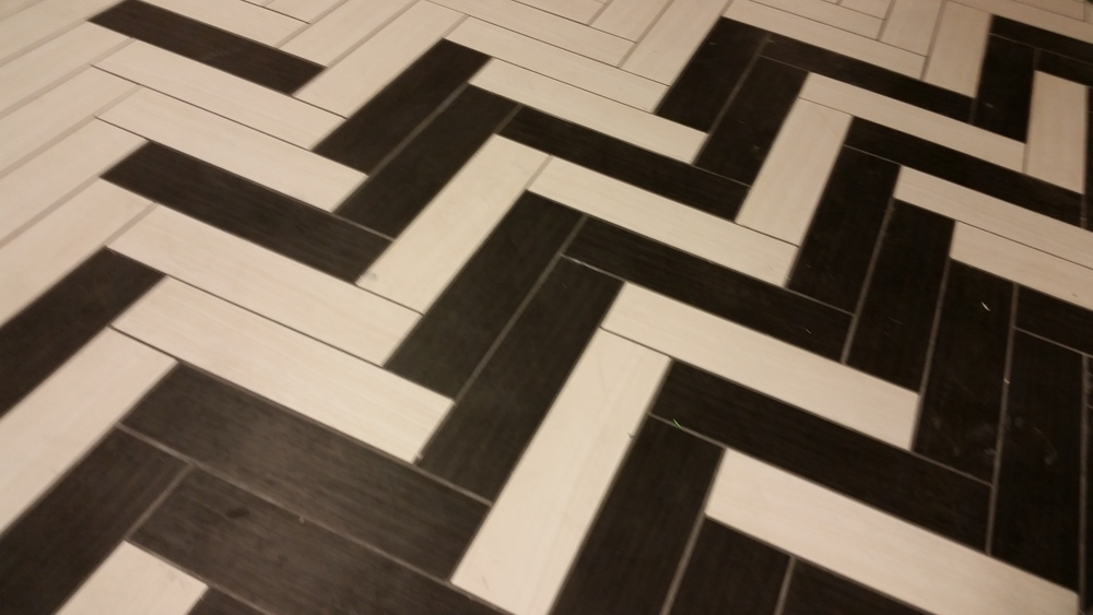 And here's a close-up of the tile pattern.