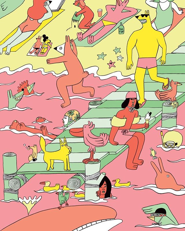 YUK FUN @helloyukfun is the collaborative partnership of artists Lucy Cheung @lucylucycheung and Patrick Gildersleeves @patrickgildersleeves, and together, they create some of the most playful and fun multi media works you'll ever see // New art feature at www.red-cabin.com :: :: #redcabin #rdcbn #art #yukfun #artist #illustration#design #printmaking #fun #unitedkingdom
