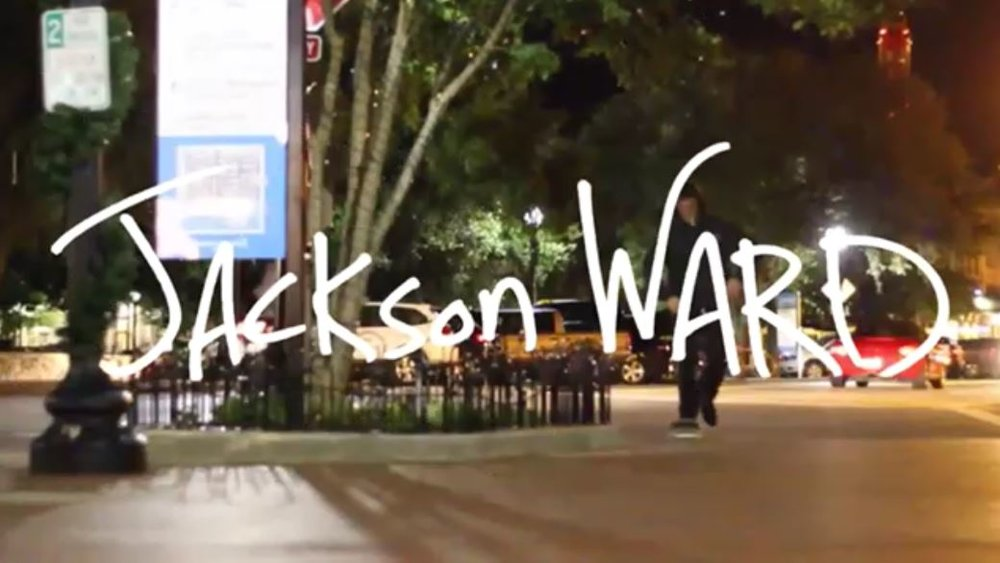 Jackson Ward's part in skateboarding video Let It Ride