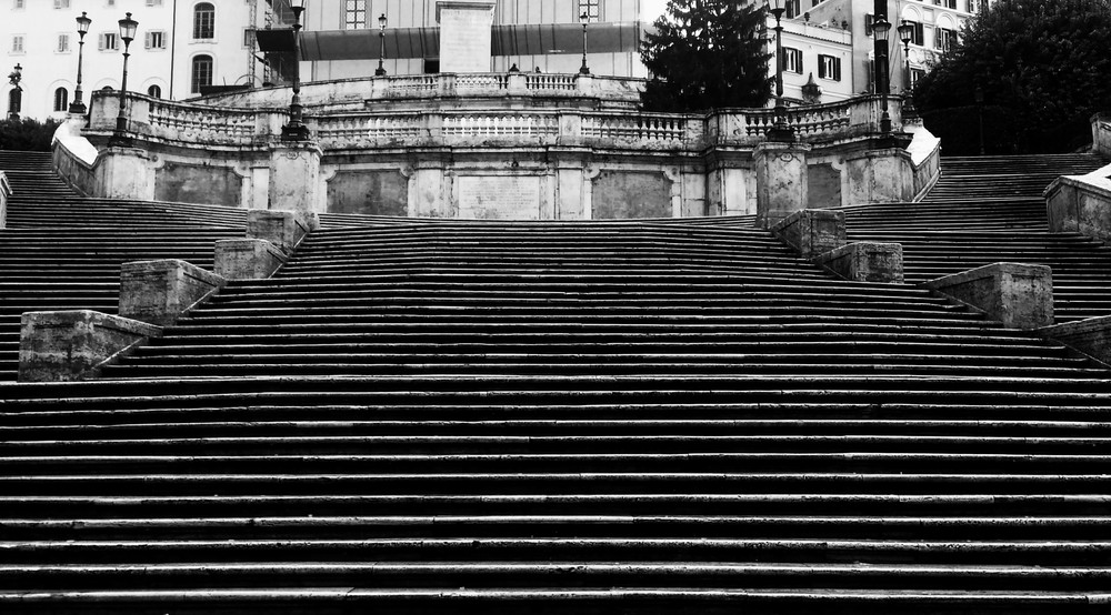 Empty Spanish Steps
