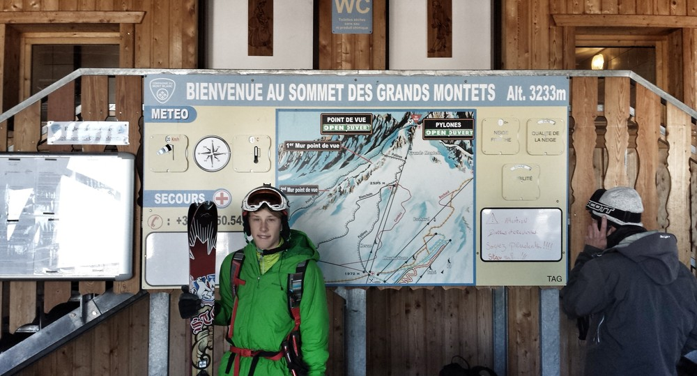 Welcome to the summit of Grand Montets
