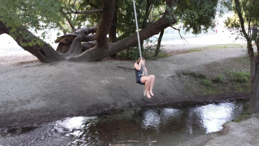 Lea on the swing
