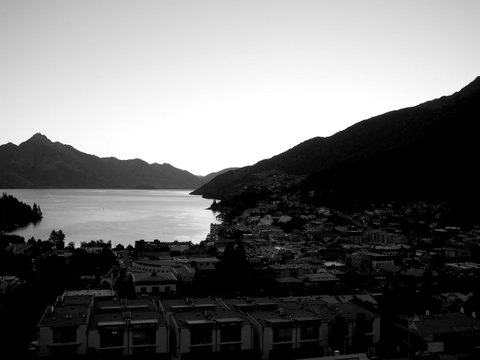 Queenstown in the middle of the day.