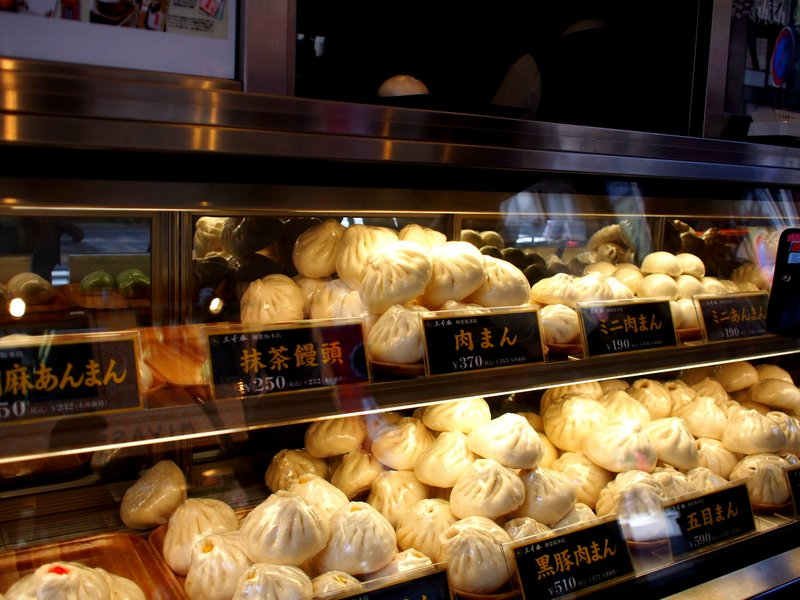 The dumpling stand - these are called niku-man