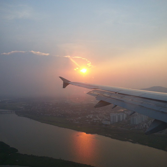 Flying into Hoi An, Vietnam