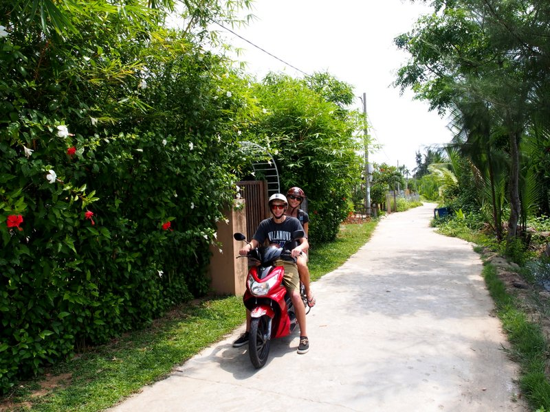 Peter has been braving the roads in Vietnam - and even braver, Stacie is his passenger!