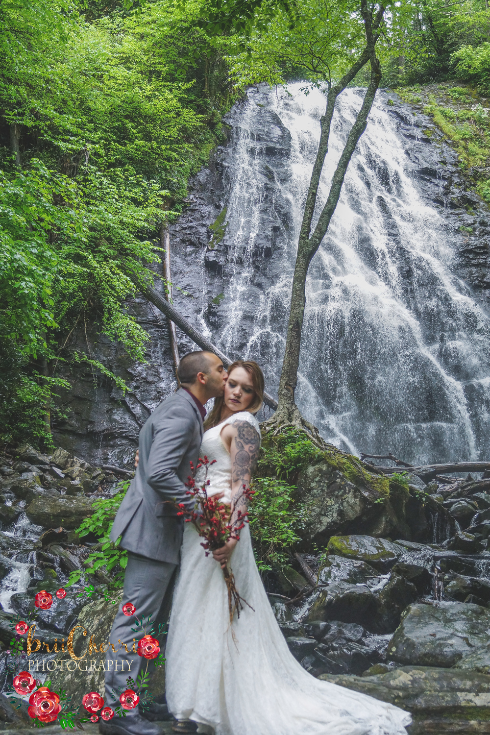 CrabTree Falls Blue Ridge Parkway North Carolina Wedding