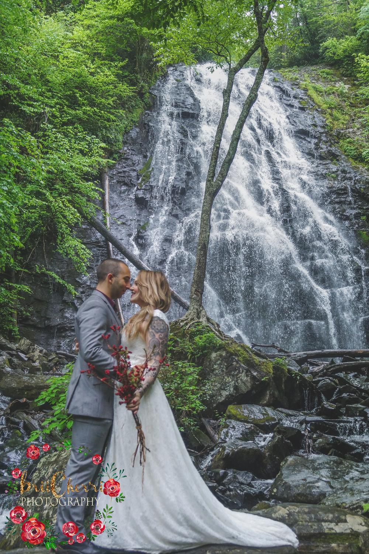 CrabTree Falls Blue Ridge Parkway North Carolina Wedding