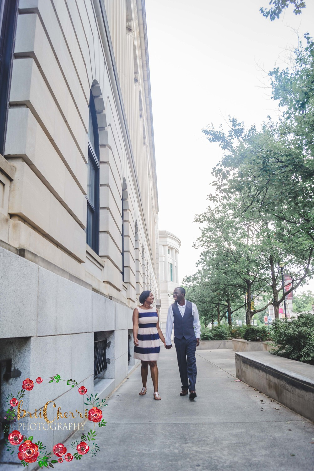 Downtown City Raleigh Engagement Session Photography