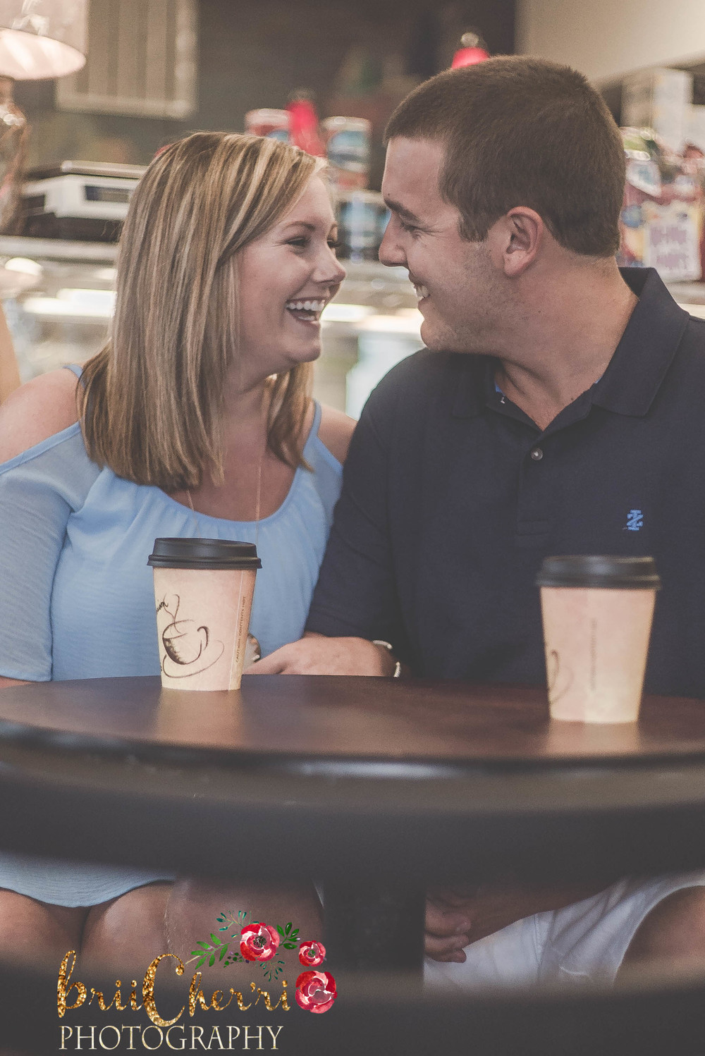 Cafe Engagement Session Outer Banks NC Forbes Candies
