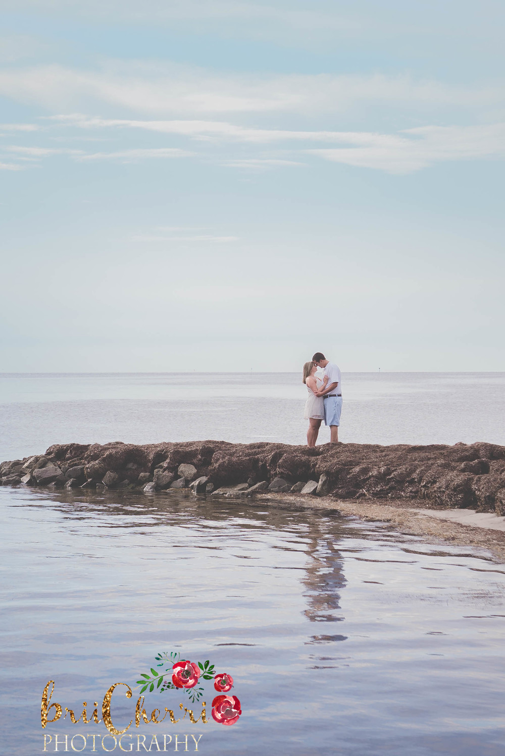 Beach Ocean Engagement Session Outer Banks NC Wedding Photography