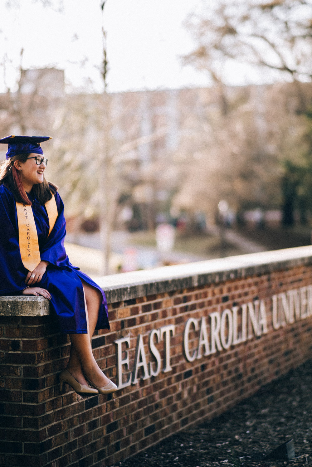 East Carolina University graduation senior photography greenville nc