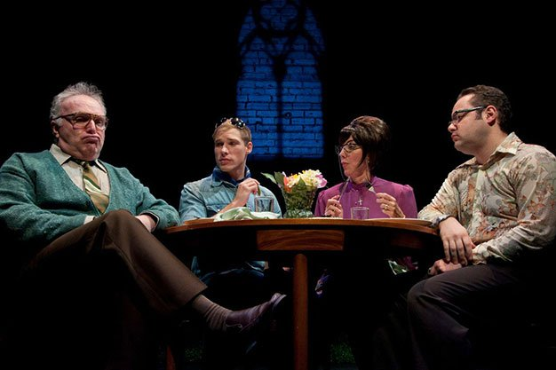 Ralph Small, Nathaniel Bacon, Elley-Ray Hennessy, and Michael DeRose in  My Dinner with Casey Donovan
