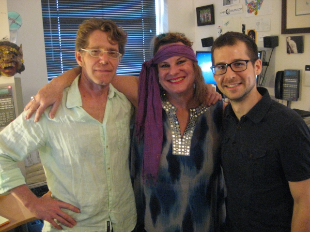 Wanda and The Way It Is front woman Janet Laing with  Dubway Studios  owner Al Houghton and manager Brandon Hollely