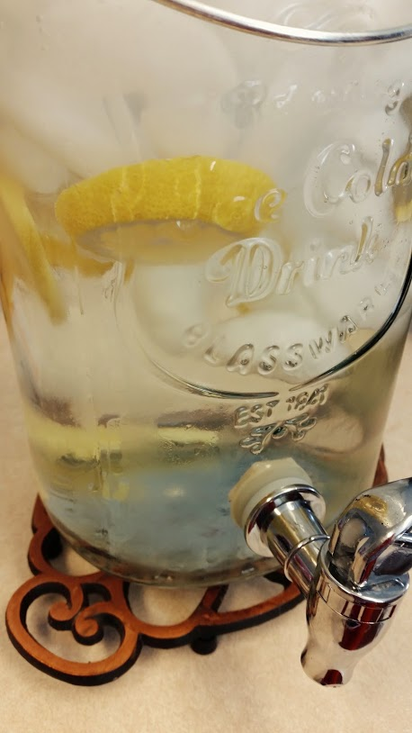 Lemon and Ginger water - so good and refreshing.