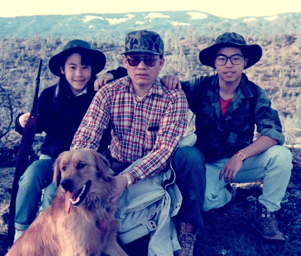 L to R: Sister Charlene, Stepfather Bill, Stan and The Bear. Family Ranch, Northern California c. 1986