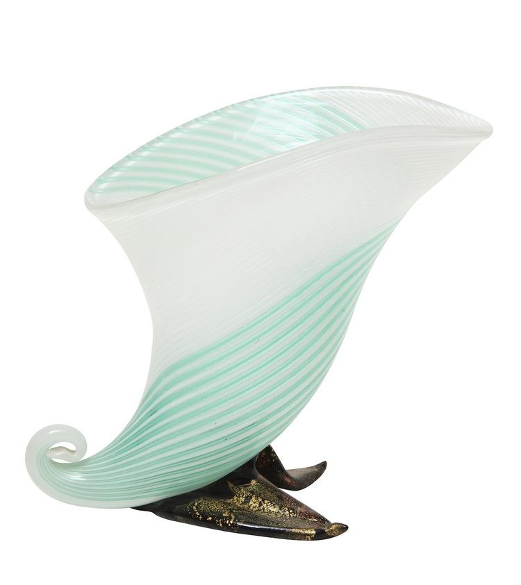 Cornucopia Vase By Aureliano Toso Donzella