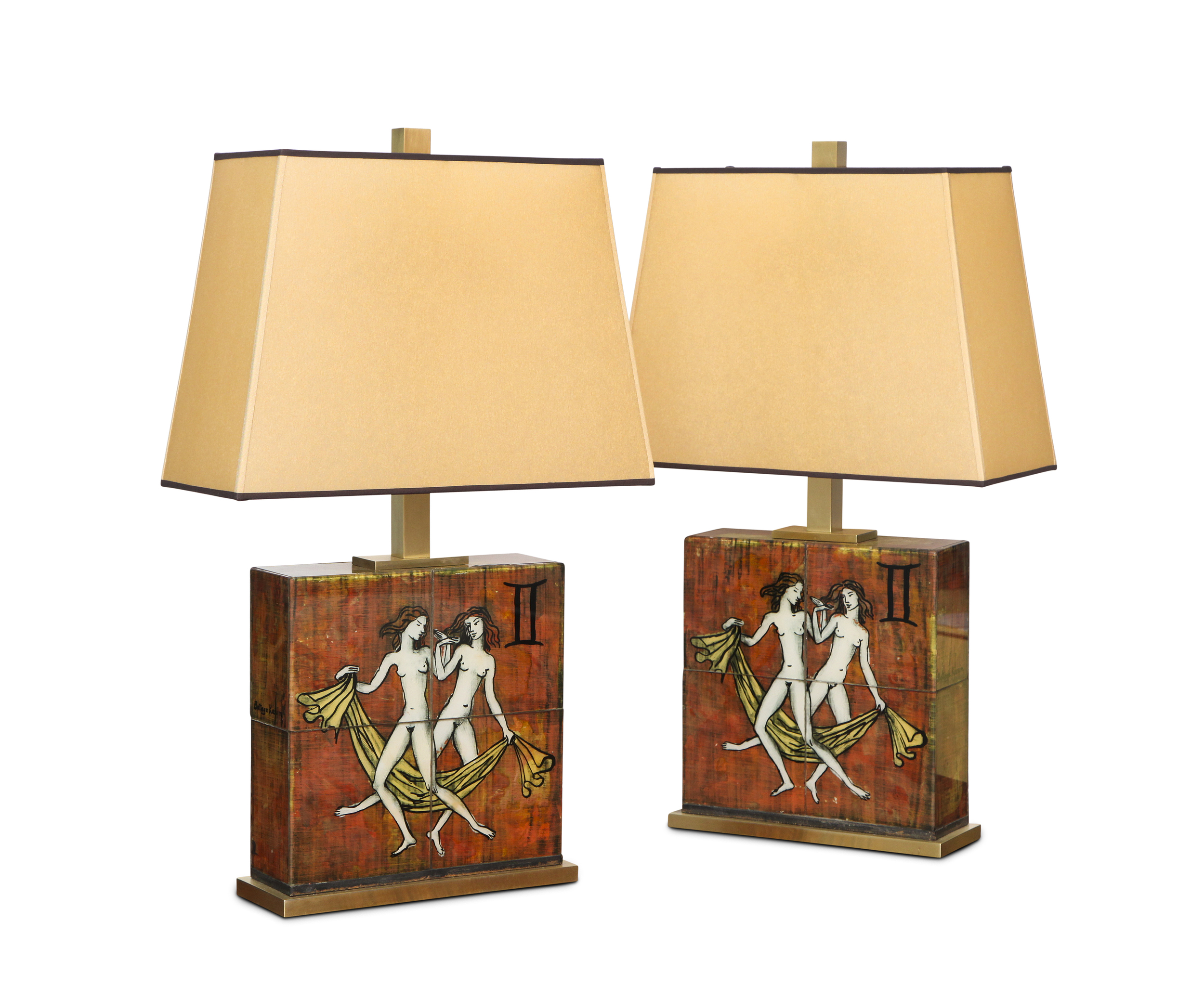 Unique Pair Of Table Lamps By Paul Laszlo And Karin Van Leyden