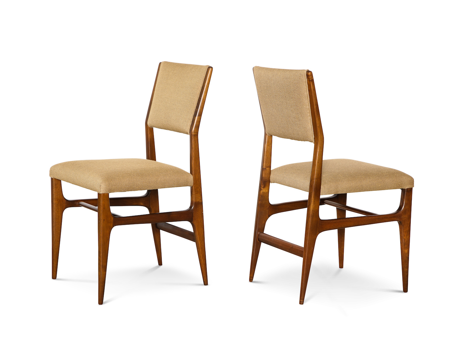 Pair Of Side Chairs By Gio Ponti For M. Singer U0026 Sons