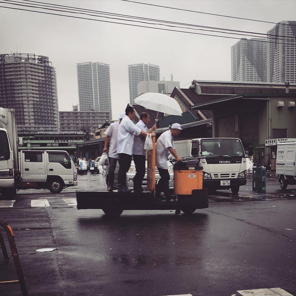 Mode of Transport Tsukiji fish market, Tokyo, Japan