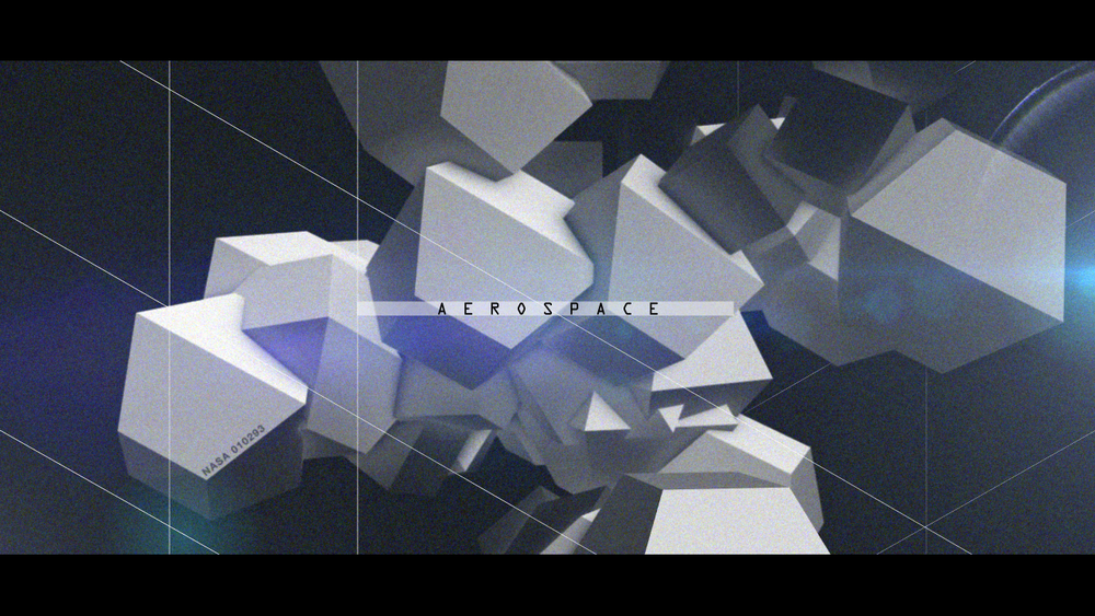 Test Style Frame for a documentary film 'Aerospace'