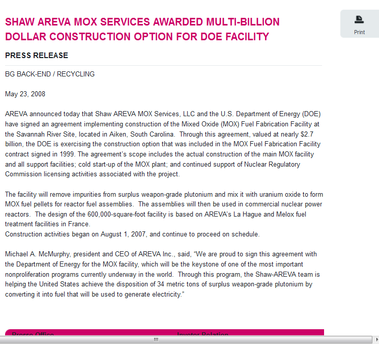 11 Shaw AREVA MOX Services Awarded Multi-Billion Dollar Construction Option for DOE Facility.png