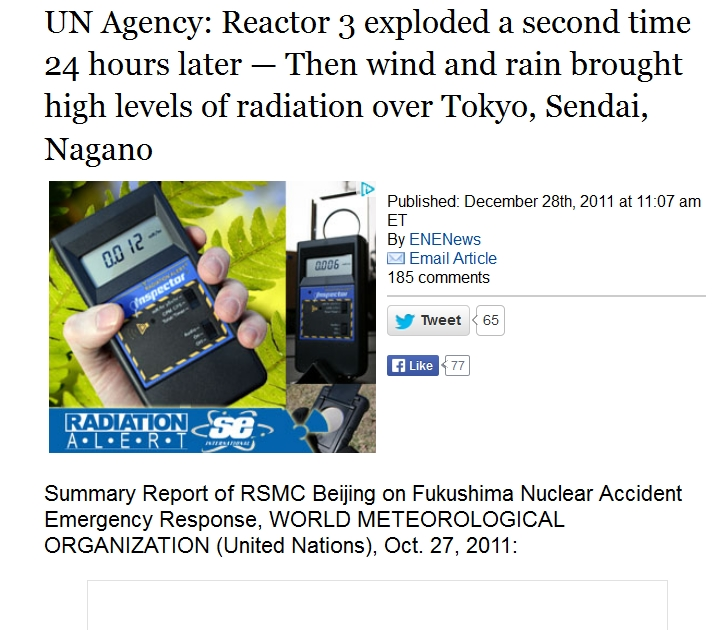 14 UN Agency Reactor 3 exploded a second time 24 hours later.jpg