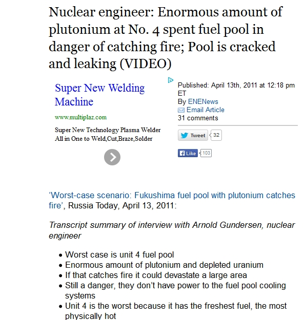 Nuclear engineer Enormous amount of plutonium at No. 4 spent fuel pool.jpg
