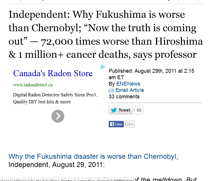 "1 Why Fukushima is worse than Chernobyl; ""Now the truth is coming out"" — 72,000 times worse than Hiroshima.jpg"