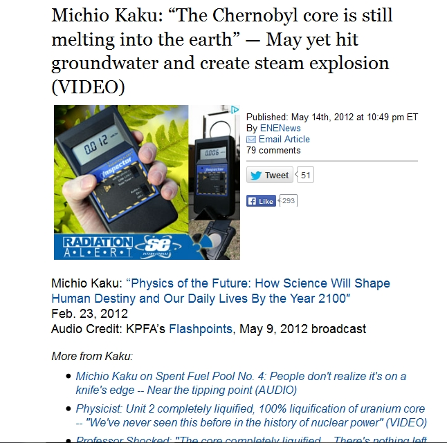 "Michio Kaku ""The Chernobyl core is still melting into the earth.jpg"